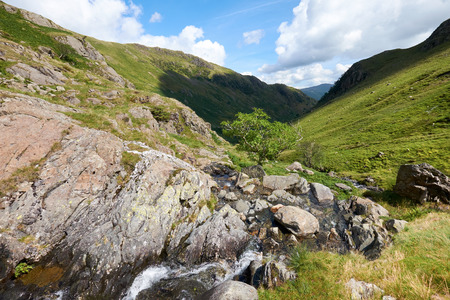 beck: The stream running down Dovedale Beck in the English Lake District Stock Photo