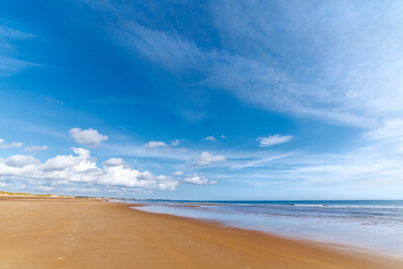 seclusion: Sandy Beach, Drudridge Bay Northumberland in the UK