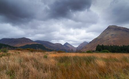 glen: Summits of Stob Dubh & Stob na Broige in Glen Etive, Scottish Highlands.