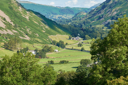 beck: The view towards Hartsop from Dovedale Beck in the English Lake District.