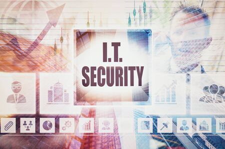 business it: Business IT Security collage concept