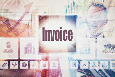 Business Invoice collage concept