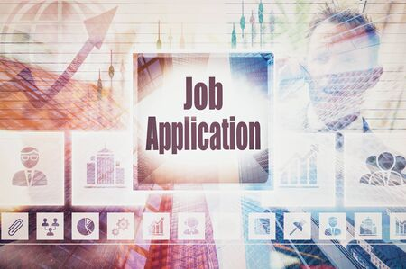 evolve: Business Job Application collage concept Stock Photo