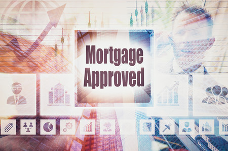 homeownership: Business Mortgage Approved collage concept
