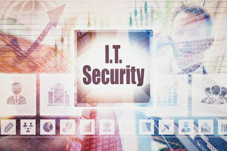 it business: Business IT Security collage concept