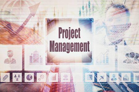 constrain: Business Project Management collage concept