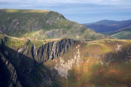 cumbria: Views of May Crag below Hindscarth in the Lake District, England, UK.