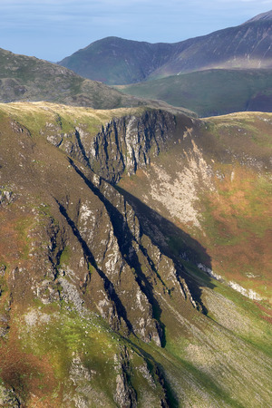 lake district: Views of May Crag below Hindscarth in the Lake District, England, UK.