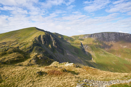 gill: Views of the Summit of Dale Head and Hindscarth in the Lake District, England, UK.