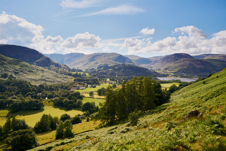 lake district: Patterdale in the English Lake District, UK. Stock Photo