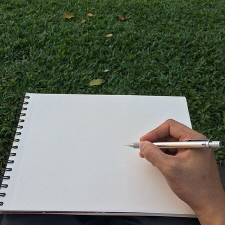sketchbook: Hand drawing on sketchbook