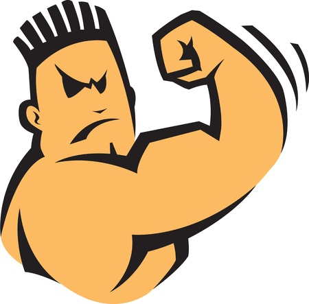 tough man: Cartoon Bad Boy  Vector and high resolution jpeg files available  Illustration