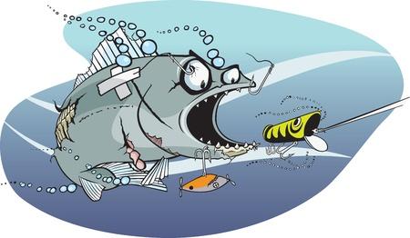 만화 물고기 비열한 가능한 호수 계층화 된 벡터와 고해상도 JPEG 파일의 힘겨운 물고기 일러스트