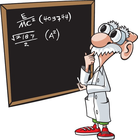 Cartoon professor  Layered vector file and high resolution jpeg files available