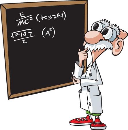profesor: Profesor de dibujos animados vector archivos en capas de alta resolución y archivos jpeg disponibles