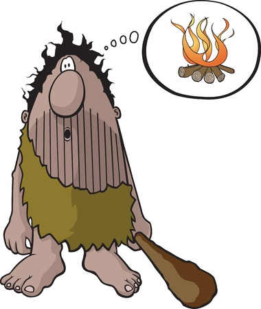 invention: Cartoon Caveman  Vector and high resolution jpeg files are available  Illustration
