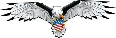 Illustrated Eagle in  and Hi res raster formats