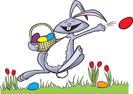 cottontail: Cartoon Conejo de Pascua y alta resoluci�n en formatos raster arte