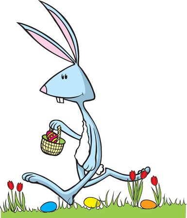 cottontail: Cartoon Easter Bunny in  art and Hi res raster art formats