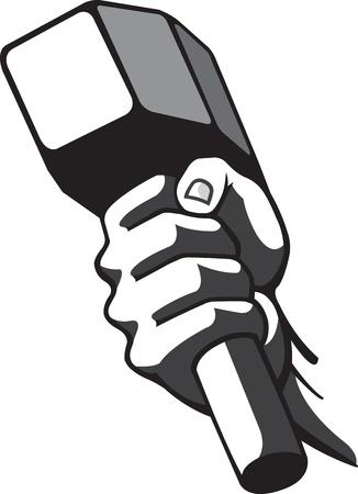 Hammer and Hand Vettoriali