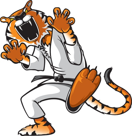 tigre caricatura: Kung Fu Kat
