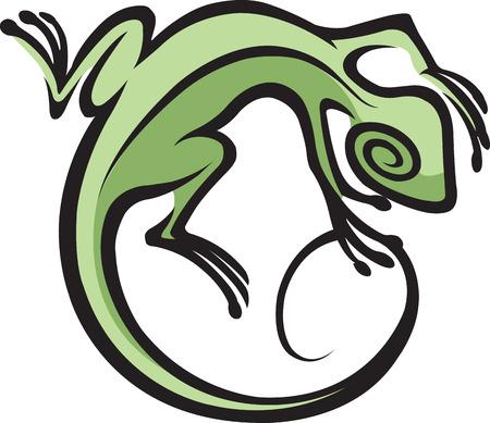 사우스 웨스트 도마뱀 일러스트 추상적 인 도마뱀 스톡 콘텐츠 - 24158231