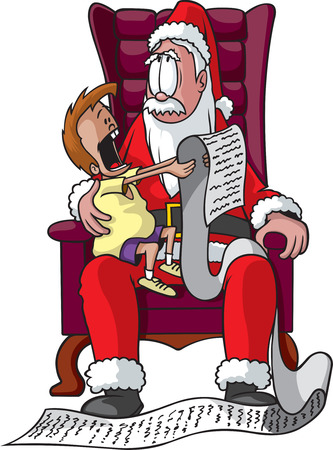 A cartoon Mall Santa  Vector and high resolution jpeg files available