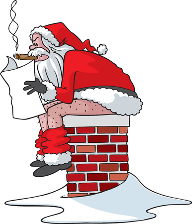 naughty: A cartoon Santa Vector and high resolution jpeg file formats