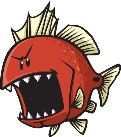 A cartoon Red fish  Vector and high resolution jpeg files  Vettoriali
