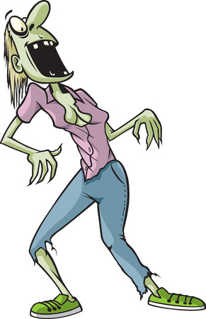 A cartoon Zombie named Kathy  Vector and high resolution jpeg files available