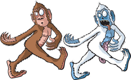 bigfoot: A cartoon Sasquatch and Zombie Yeti  Layered vector and high resolution jpeg files available