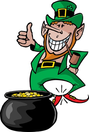 A cartoon Leprechaun  Great for St Patrick s Day party announcements and news letters  High resolution jpeg files also available  Illusztráció
