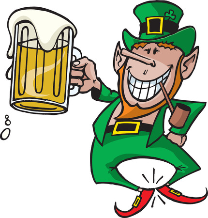 A cartoon Leprechaun  Great for St Patrick s Day party announcements and news letters  High resolution jpeg files also available  Vettoriali