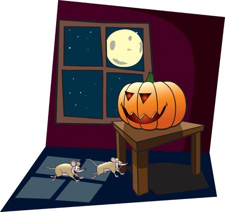 Cartoon Jack-O-Lantern illustration