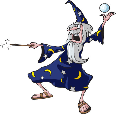 astrologer: Cartoon Wizard  illustration