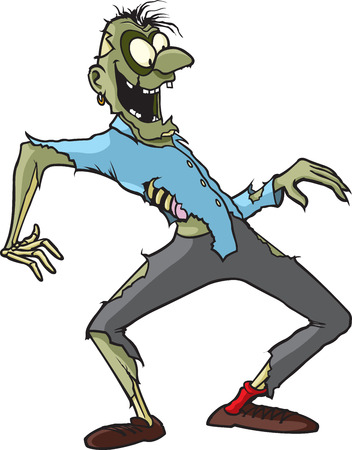 A cartoon Zombie whose name is Gary