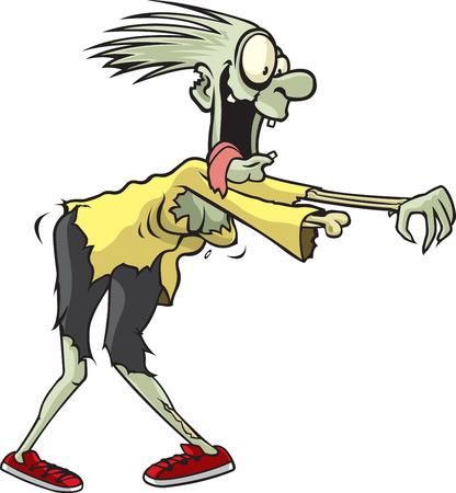 whose: A Zombie de dibujos animados cuyo nombre es Janet