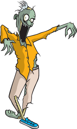 A cartoon Zombie whose name is Paul  Vector