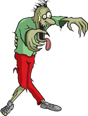 A cartoon Zombie whose name is Tim  Vettoriali