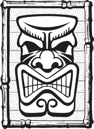 Illustrated Tiki  Layered vector and high resolution jpeg files available