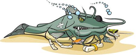 catfish: Cartoon Catfish Illustration