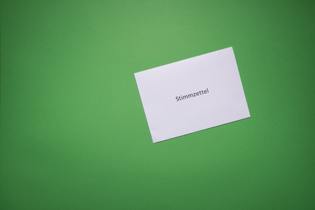 German Stimmzettel is ballot paper in english Banque d'images
