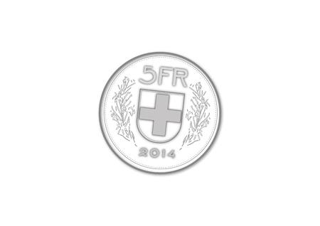 Vecotr of five swiss francs