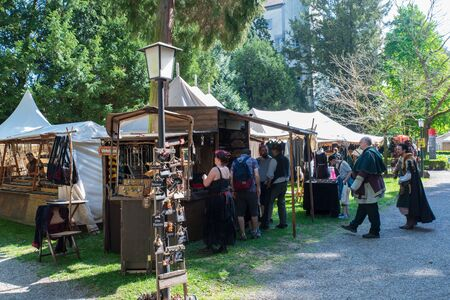 Bad Saeckingen, Germany - April 21th 2018: Mittelalterlich Phantasie Spectaculum Редакционное