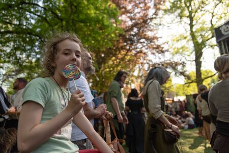 Bad Saeckingen, Germany - April 21th 2018: Mittelalterlich Phantasie Spectaculum - Biggest middle ages mark in europe
