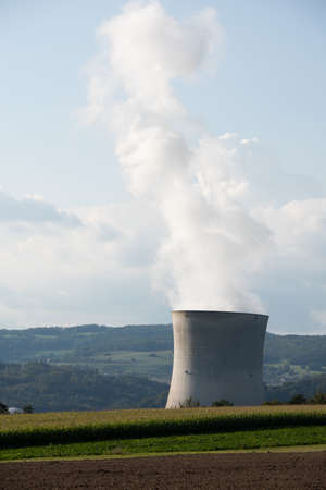 At Leibstadt nuclear power plant in Switzerland Фото со стока