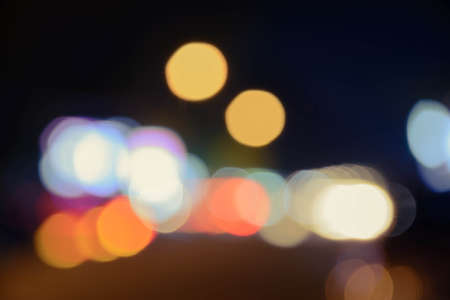 city light: Bokeh from city light, colourful.