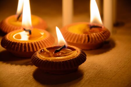 wellness: Candles to be used for religious rituals. Stock Photo