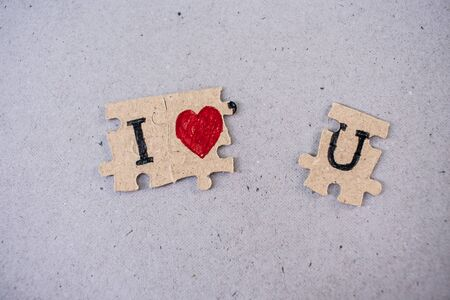 Meaning paper jigsaw puzzles i love you and paper backgrounds