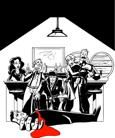 Assassiner Mystery au Speakeasy